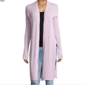 NWT✨Free People Ribbed Knit Lavender Duster Cardi